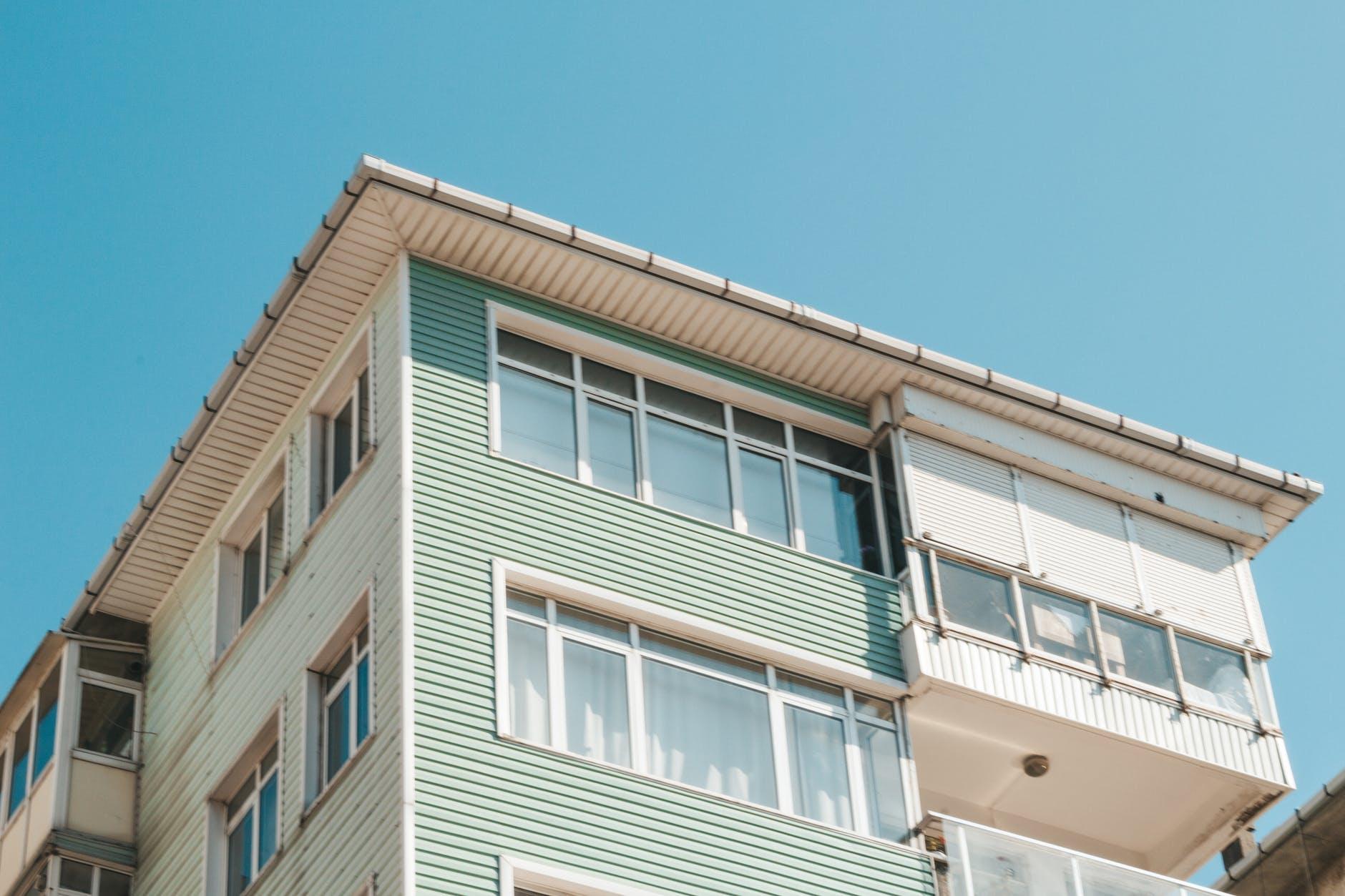 budova, bývanie, okná