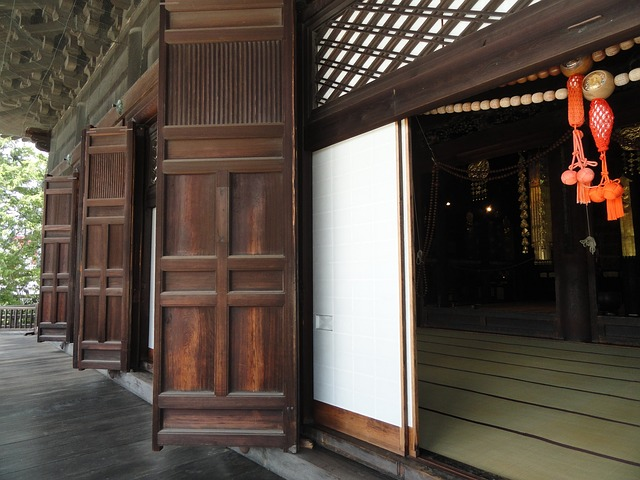 japonské dveře